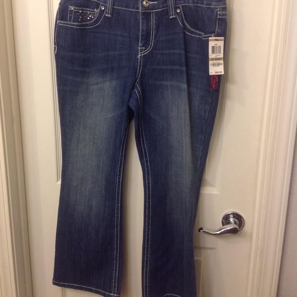 fdf68b2d5d916 INC Denim regular fit bootleg jeans women s 12PS